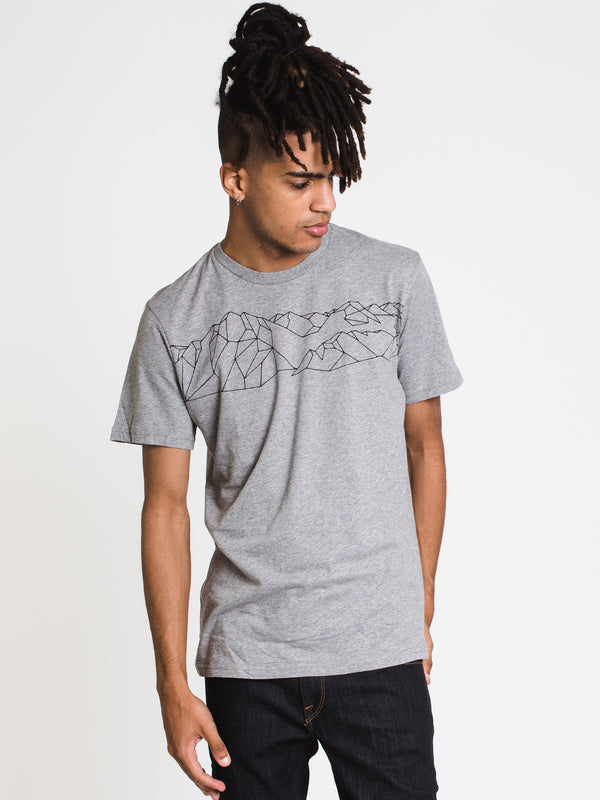 MENS GEO MOUNTAIN CLASSIC T - GREY