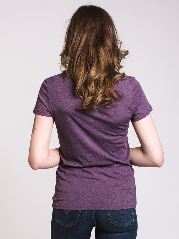 WOMENS LEAFY MARK S/S TEE - VIOLET