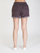 WOMENS BAMONE SWEATSHORT - BLACK MARL