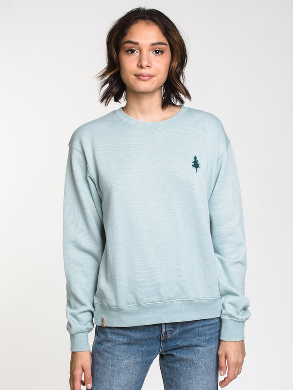 WOMENS TREE FLC SPRUCE CREW - BLUE