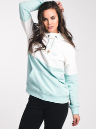 WOMENS BALSA PULL OVER HOODIE - BLUE/MINT