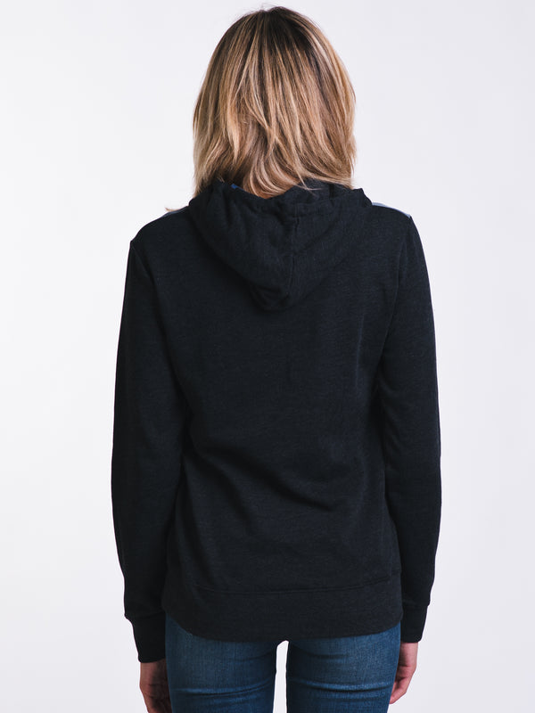 WOMENS JUNIPER PULL OVER HOODIE- BLACK