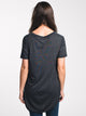 WOMENS JUNIPER LONG TEE - BLACK