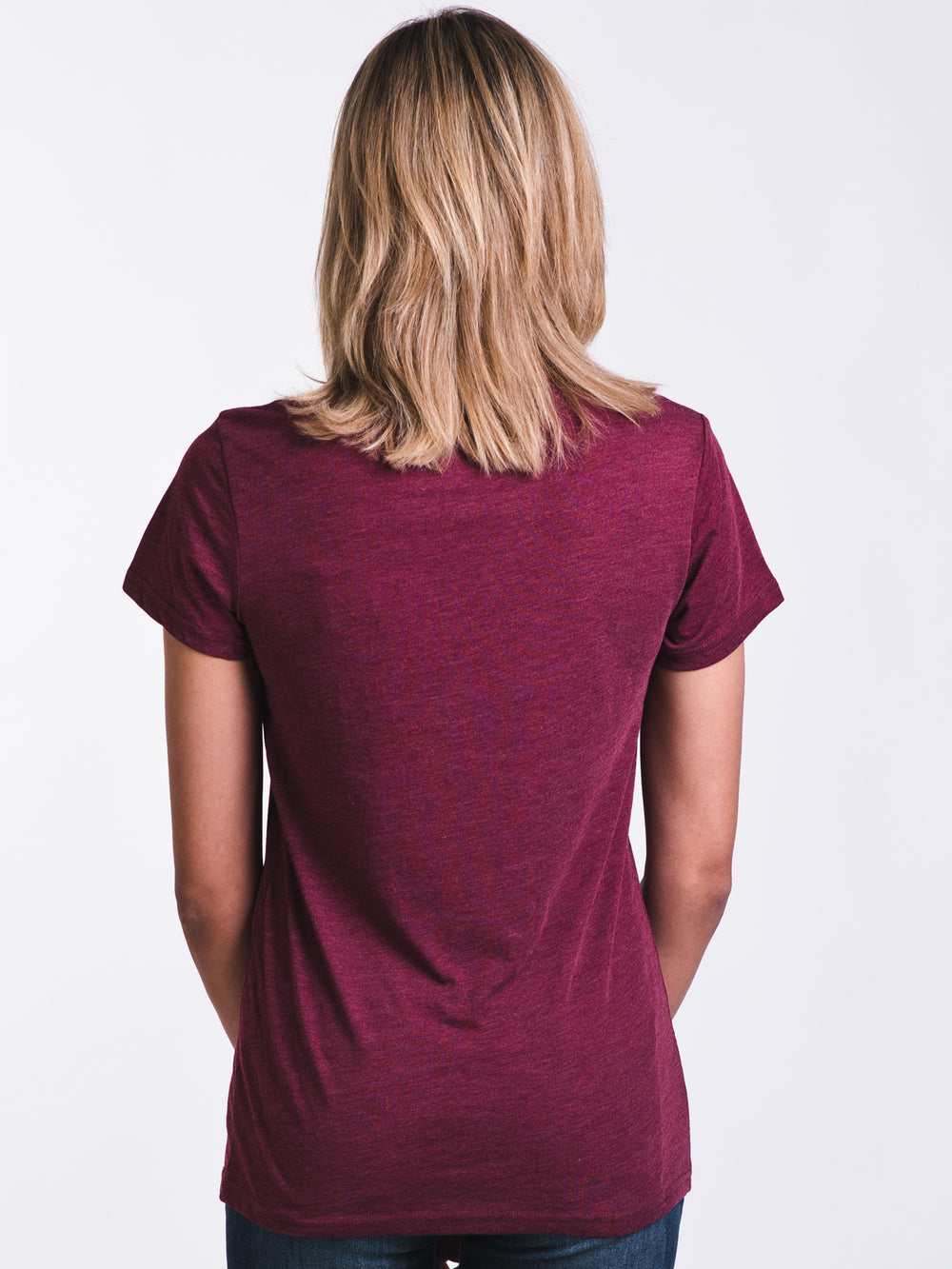 WOMENS JUNIPER SHORT SLEEVE T-SHIRTEE - BURGUNDY