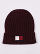 KNIT LOGO CUFF HAT - BURGUNDY - CLEARANCE