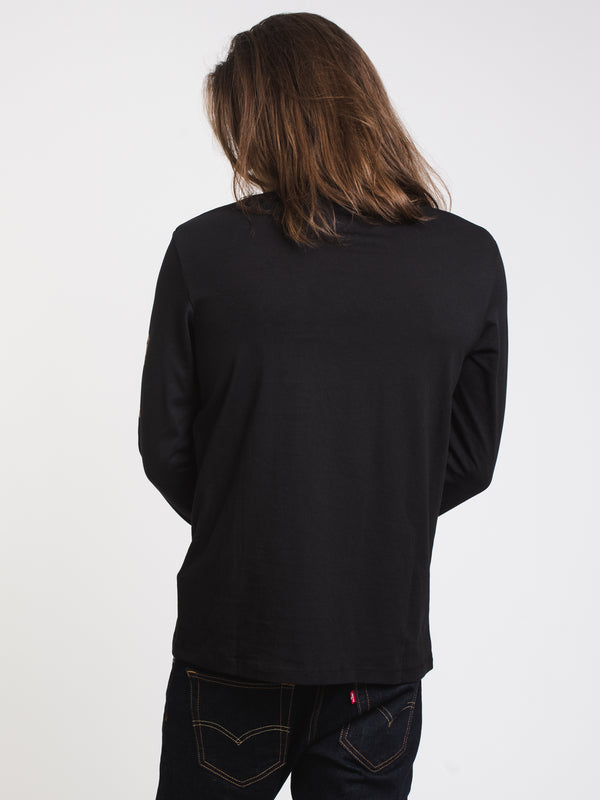 MENS TIM ARM HIT LONG SLEEVE T- BLACK