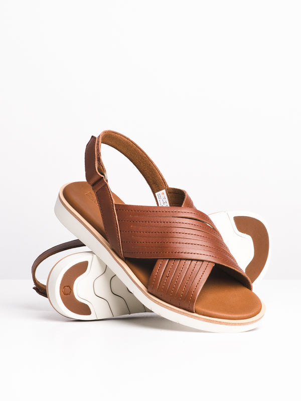 WOMENS ADLEY SHORE - BROWN FULL GRAIN