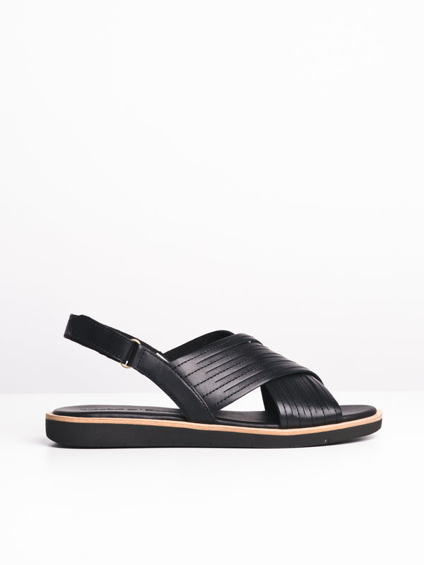 WOMENS ADLEY SHORE - BLACK FULL GRAIN