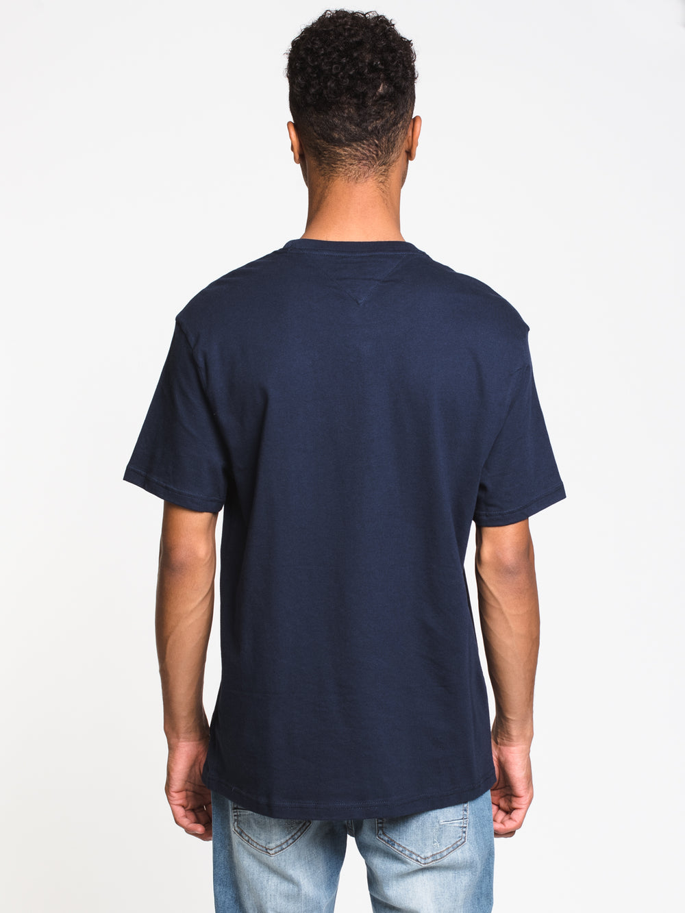 MENS BOLD TOMMY LOGO SHORT SLEEVE T-SHIRT- NAVY