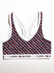 WOMENS SLEEP SLANTED LOGO BRA - NAVY