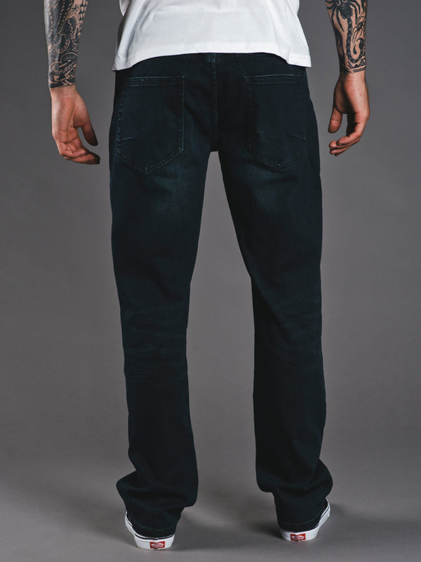 MENS RELAXED DENIM JEANS - CLEARANCE