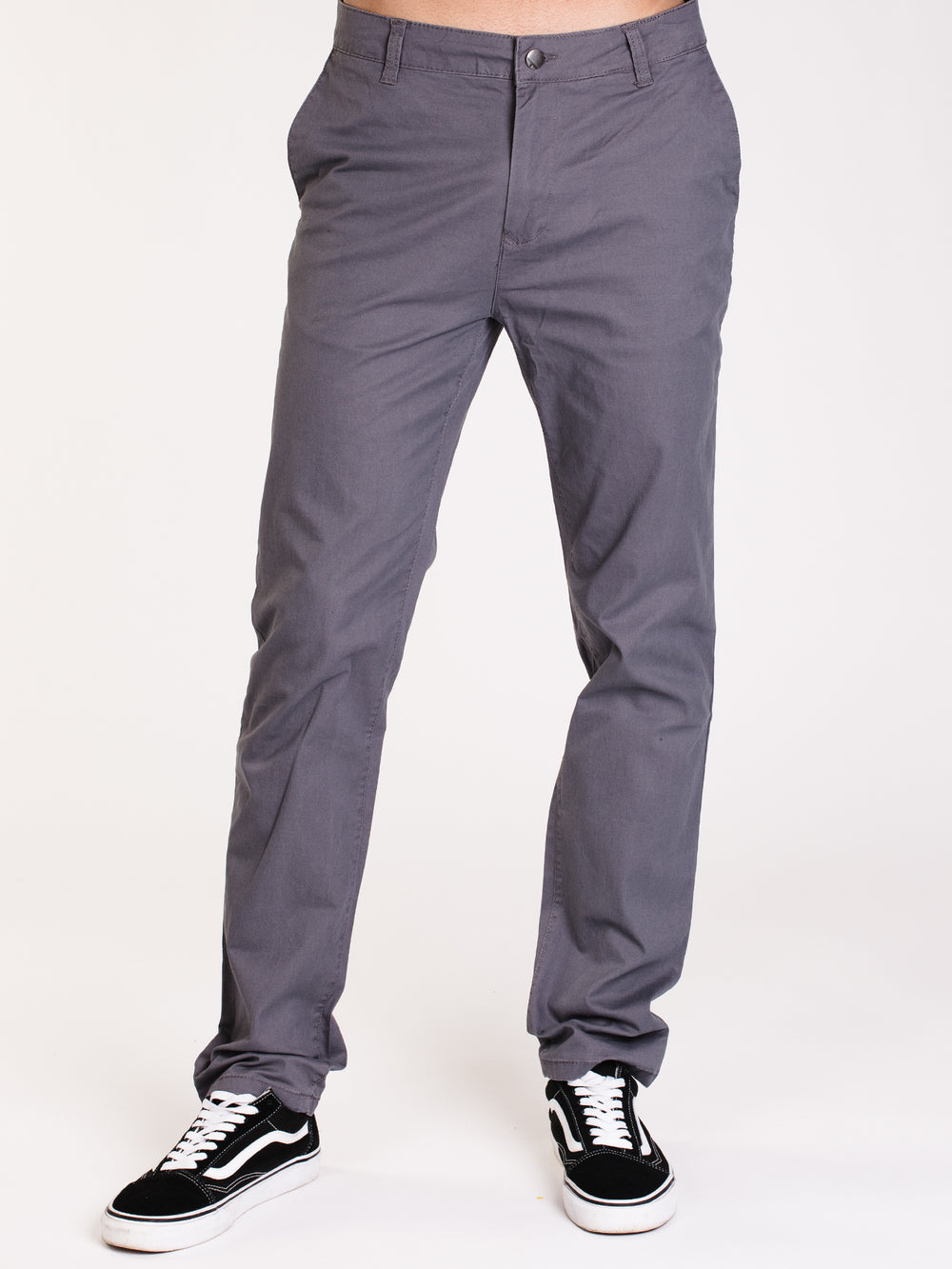 MENS SPRING SLIM CHINO - GRAVEL - CLEARANCE