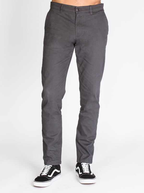 MENS SLIM CHINO - CHARCOAL