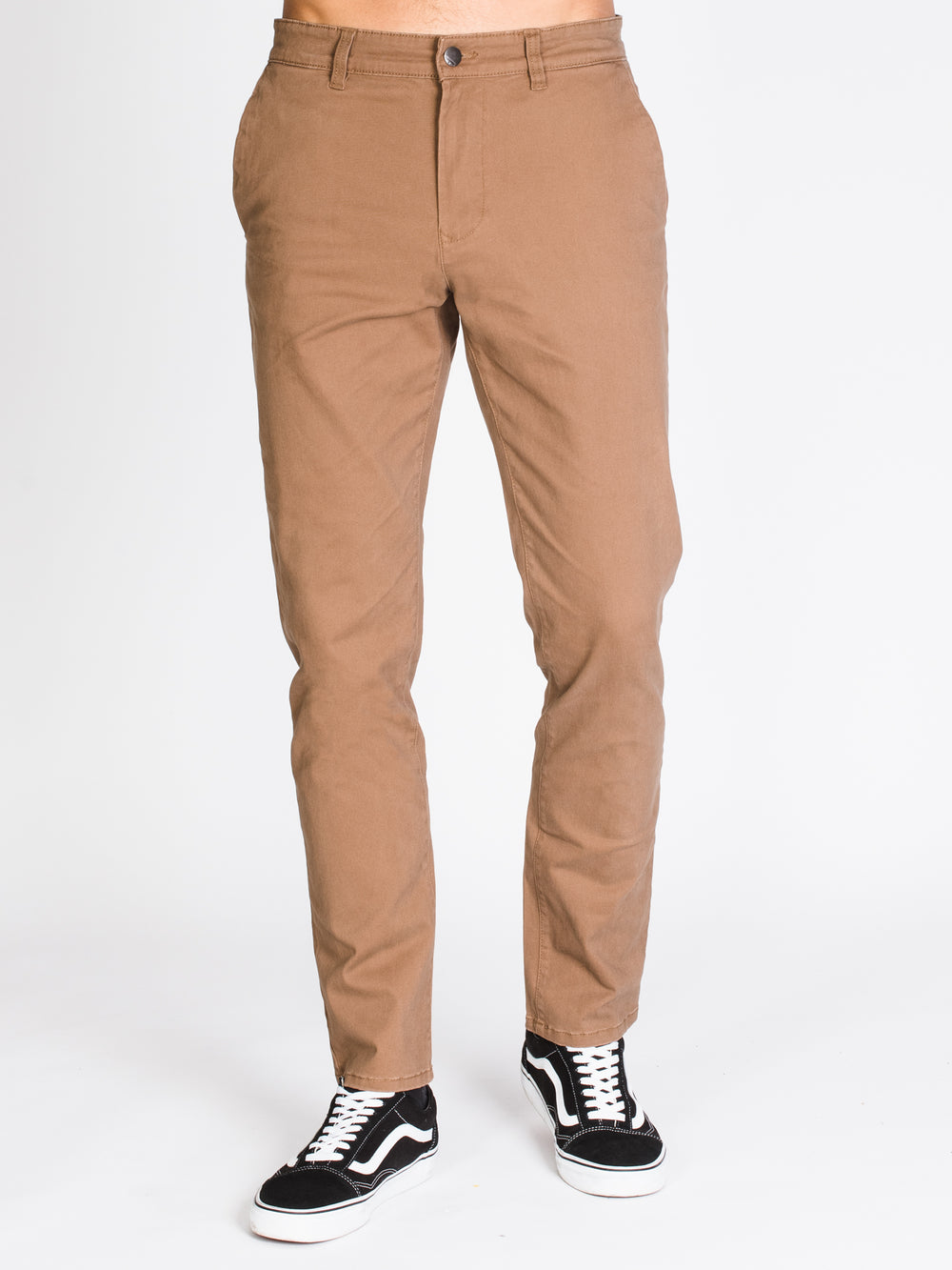 MENS SLIM CHINO PANTS - FLAX