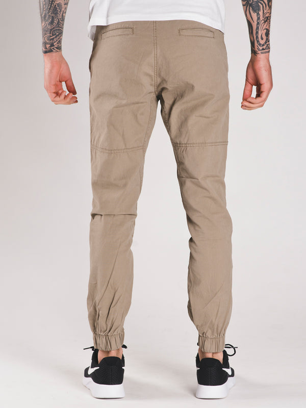 MENS CANVAS JOGGERS - CLEARANCE