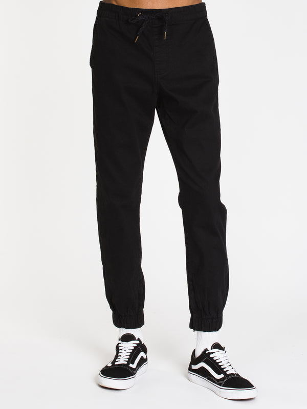 MENS CROCKETT RUGBY JOGGER - BLACK