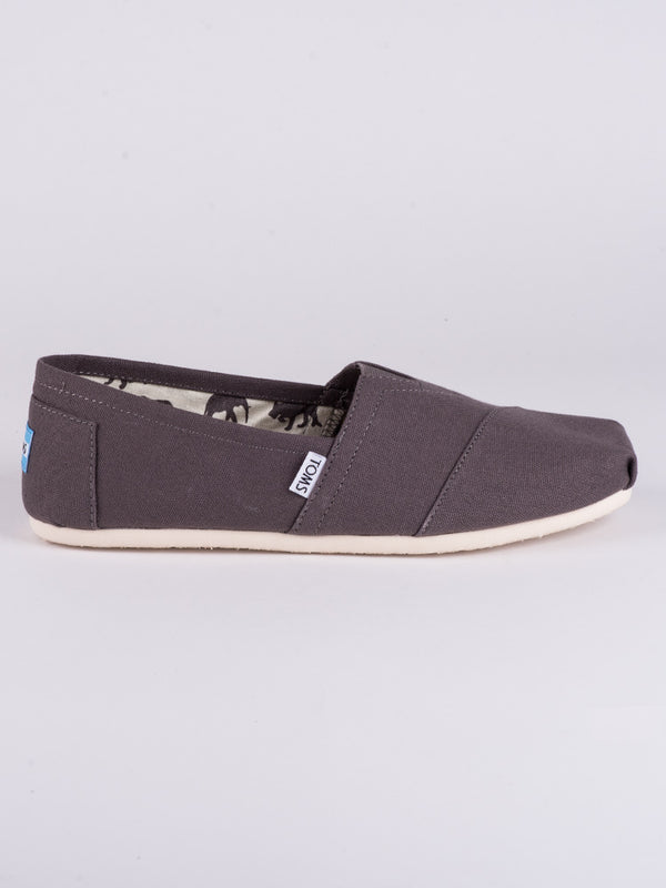 MENS CLASSICS GREY CANVAS SLIP