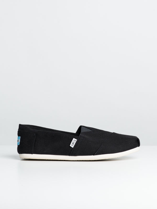 MENS CLASSICS BLACK CANVAS SLIP