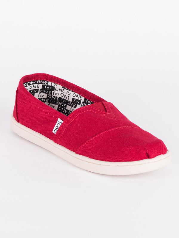 KIDS CLASSICS RED CANVAS