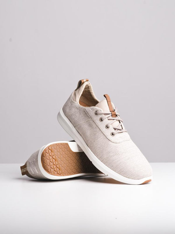 MENS THE CABRILLO OXFORD TAN CANVAS SHOES- CLEARANCE