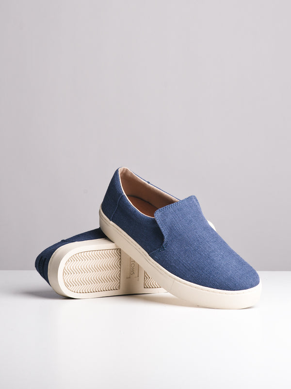 MENS THE LOMAS CADET BLUE CANVAS SLIP-ONS- CLEARANCE