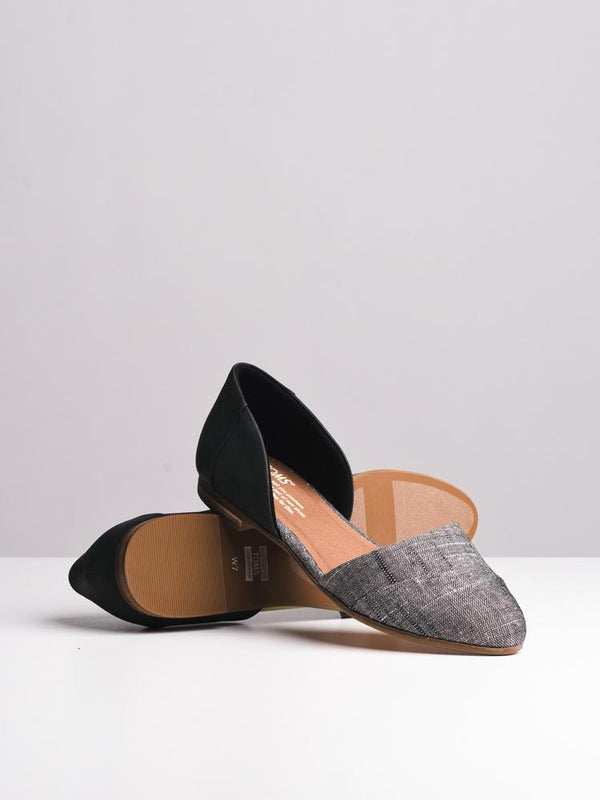 WOMENS THE JUTTI D'ORSAY BLACK FLATS- CLEARANCE