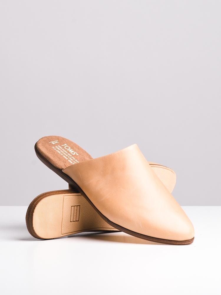 WOMENS THE JUTTI MULE HONEY LEATHER FLATS- CLEARANCE