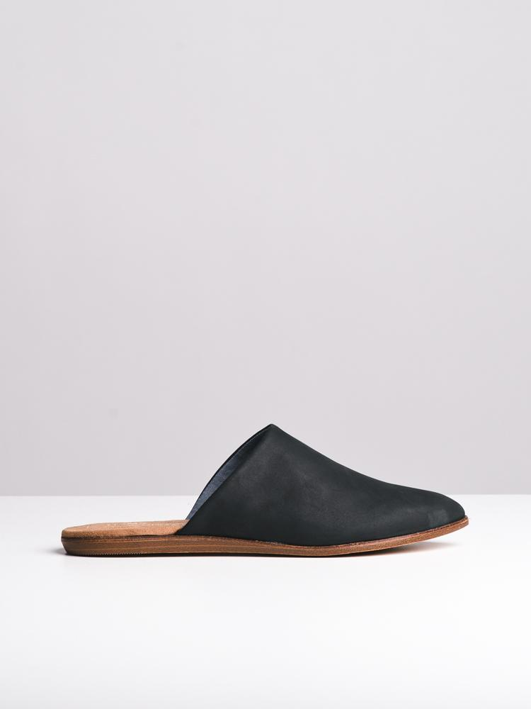 ec5c58c670c TOMS. WOMENS THE JUTTI MULE BLACK LEATHER FLATS- CLEARANCE