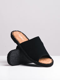 WOMENS THE CLARITA BLACK SUEDE SANDALS