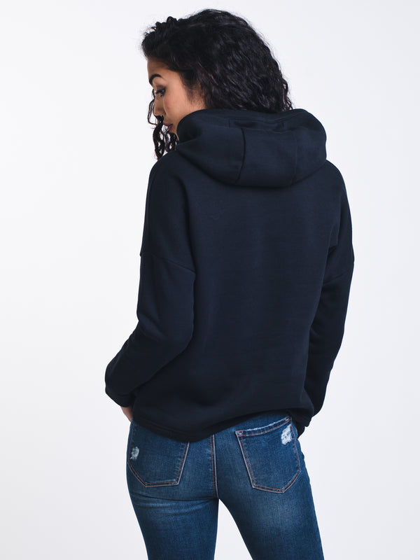 WOMENS RIVAL FLC PULLOVER HOODIE - BLACK
