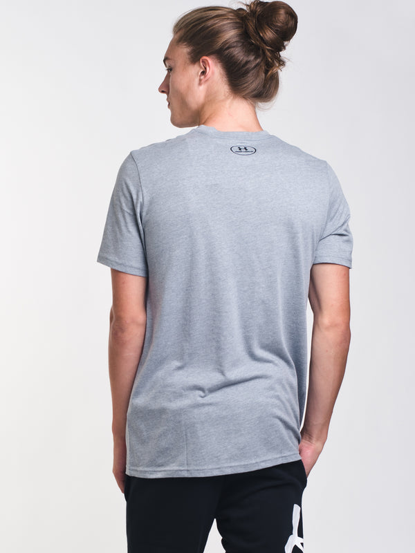 MENS UA BIG LOGO SHORT SLEEVE T-SHIRT - GREY