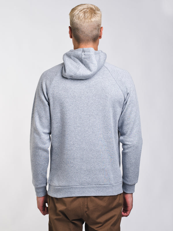 MENS RIVAL LOGO PULLOVER HOODIE- GREY