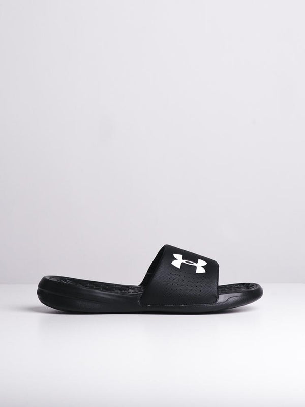 MENS UA PLAYMAKER FIX SL BLK/WHT SANDALS