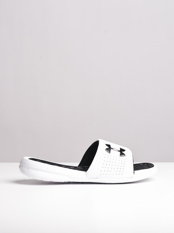 MENS UA PLAYMAKER FIX SL WHT/BLK SANDALS