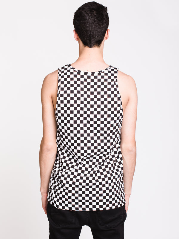 MENS VANS CHECK TANK - BLACK/WHITE