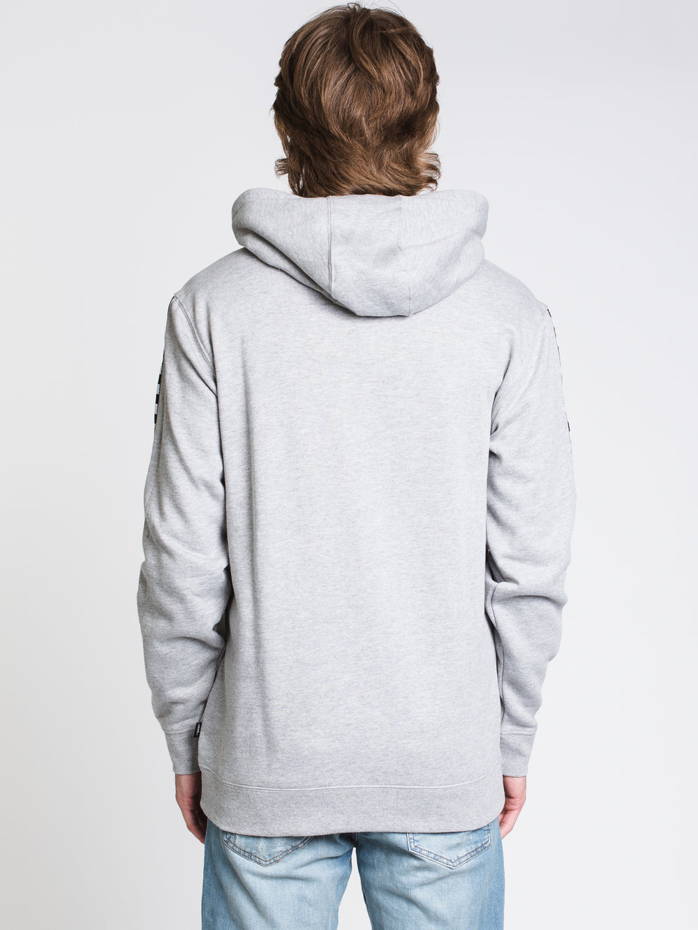 MENS CL CHECKER PULLOVER HD - CEMENT