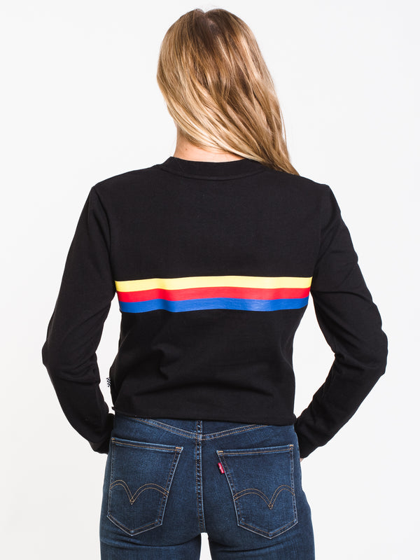 WOMENS STREAKY LONG SLEEVE TEE - BLACK
