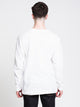MENS SIDE UP LONG SLEEVET-SHIRT- WHITE