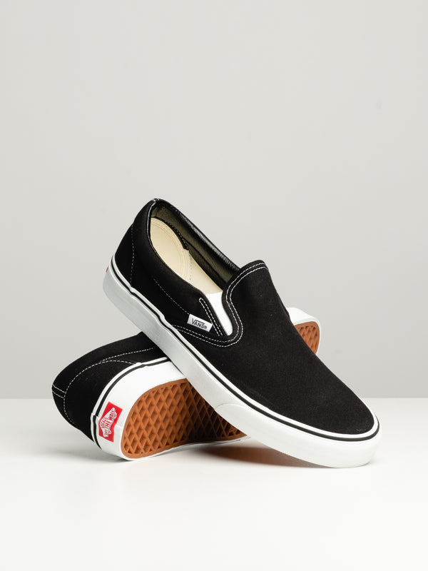 MENS CLASSIC SLIP ON BLACK CANVAS SHOES
