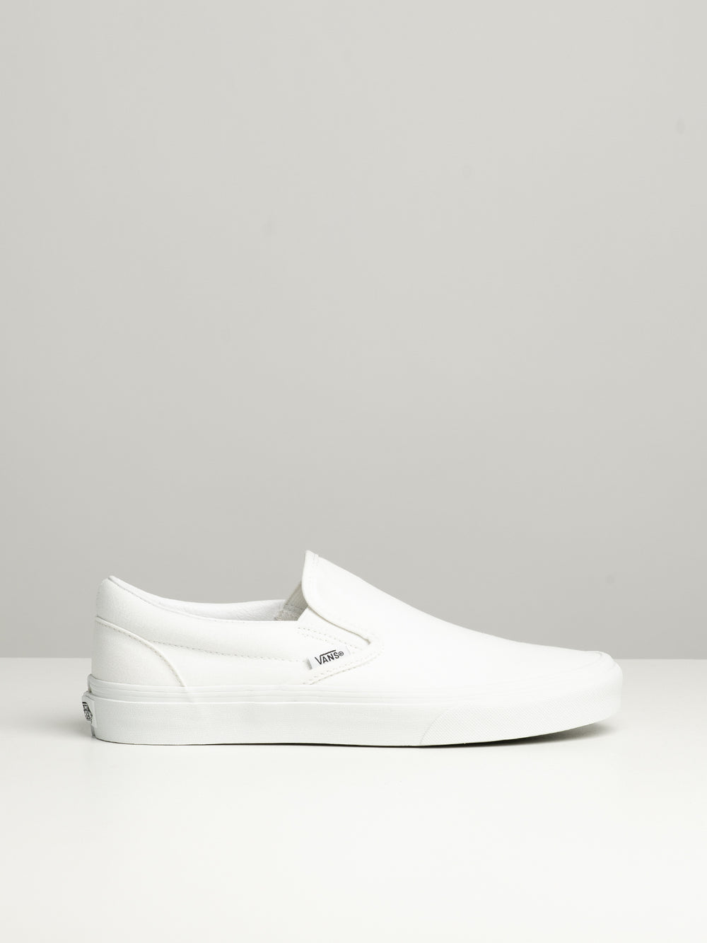 MENS CLASSIC SLIP ON TRUE WHITE CANVAS SHOES