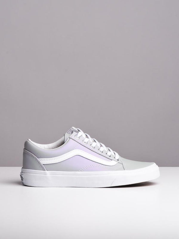 WOMENS OLD SKOOL METALLIC GREY CANVAS SHOES- CLEARANCE