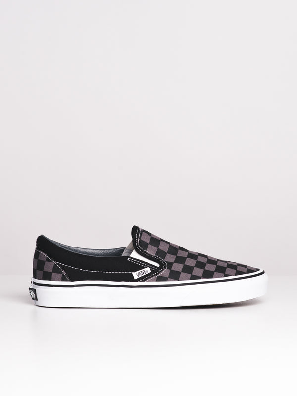 MENS CLASSIC SLIP ON CHECKERBOARD CANVAS SHOES