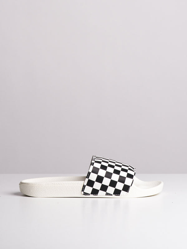 WOMENS SLIDE ON CHECKERBOARD CHECKERBOARD SANDALS