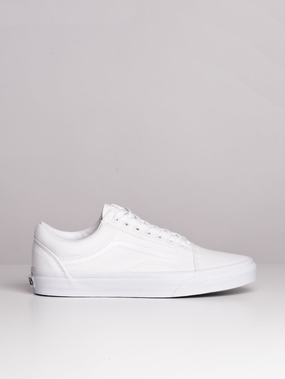 MENS OLD SKOOL TRUE WHITE CANVAS SHOES SNEAKER