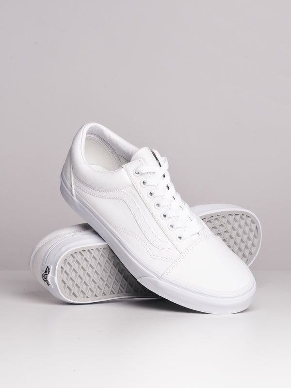 MENS OLD SKOOL TRUE WHITE CANVAS SHOES