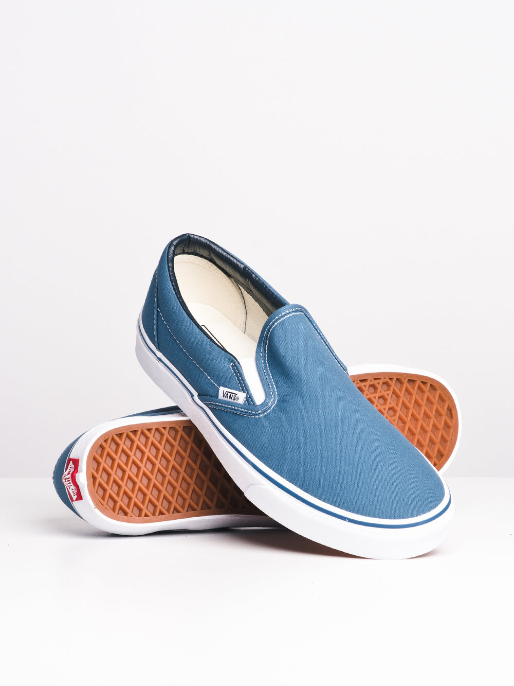 MENS CLASSIC SLIP ON NAVY CANVAS SHOES