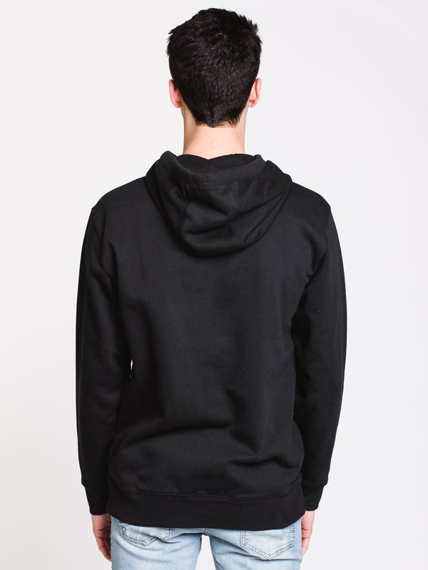 MENS CLASSIC Pullover HOOD - BLACK/LIME
