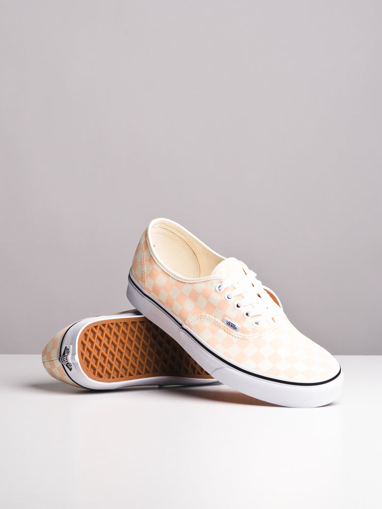 MENS AUTHENTIC CHECKER APRICOT CANVAS SHOES- CLEARANCE