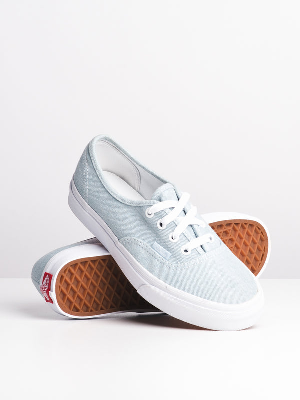 WOMENS AUTHENTIC DENIM BABY BLUE CANVAS SHOES- CLEARANCE
