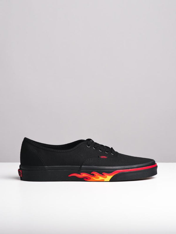 MENS AUTHENTIC FLAME FLAME WALL/BLACK CANVAS SHOES- CLEARANCE